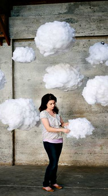 How To: Surreal DIY Cloud Wedding Backdrop