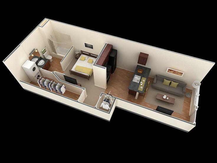 17 Best images about 3D rooms on Pinterest | Apartment floor plans ...