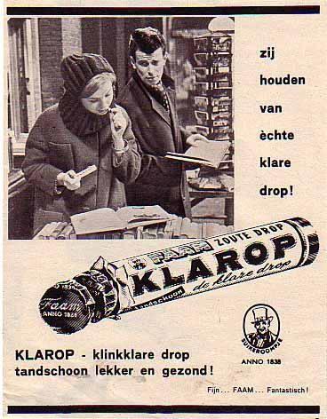 Vintage reclame Faam Klarop