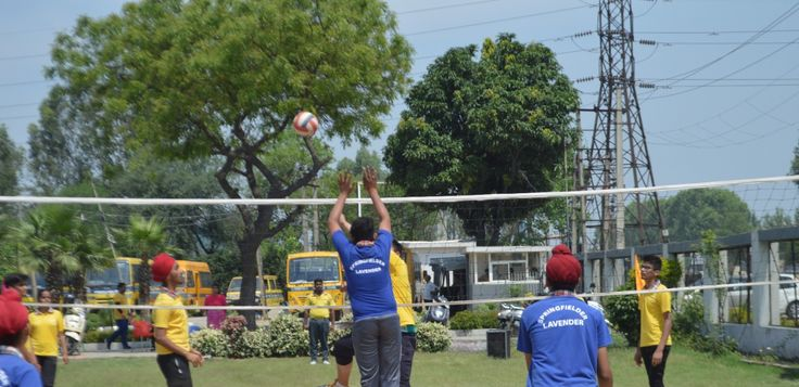 Springfield Public School Organized An Inter House Volleyball Match In Its School Premises T Top Boarding Schools How To Memorize Things Best Boarding Schools
