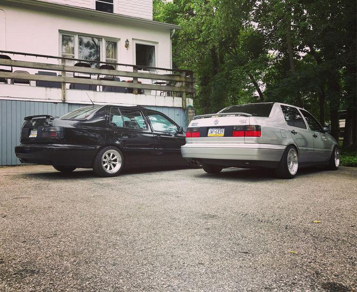 My friends Wolfsburg VRT (black) and my Silver Arrow GLX. #Volkswagen #VW #golf #cartweet #PKW #cars #Passat #beetle #polo #car