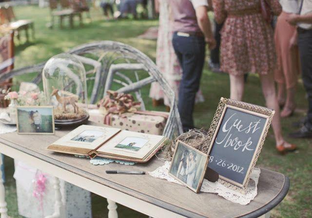mesa de firmas -Vintage