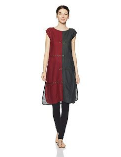 83b148e0903e Buy Designer Cotton Kurtas For Women Online In India Material: Cotton with  half sleeve and boat neck Straight fit Knee length Price: Rs 464.00  #dresses ...