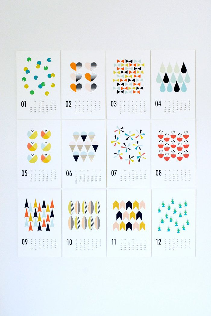 2013 wall calendar from Dozi #designeveryday