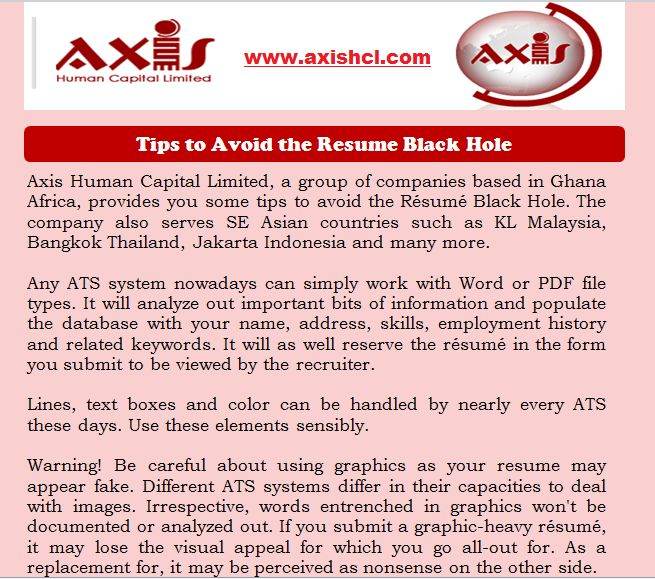 tips to avoid the resume black ats systems regard for