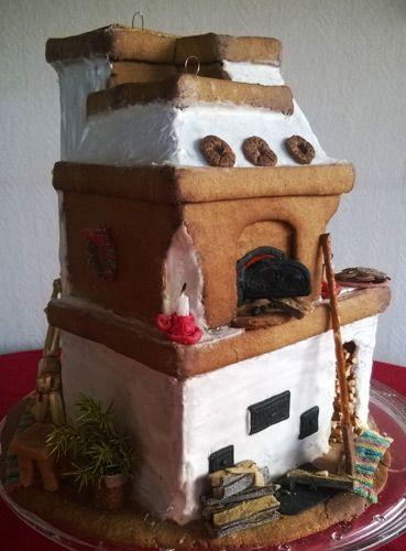 Piparista leivottu takka-leivinuuni-puuhella
