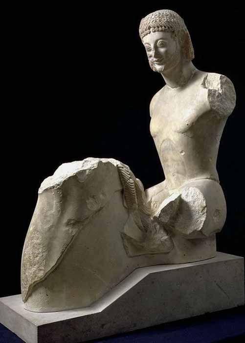 Jinete Rampin (h. 560a.C). Museé du Louvre, París. Arte griego