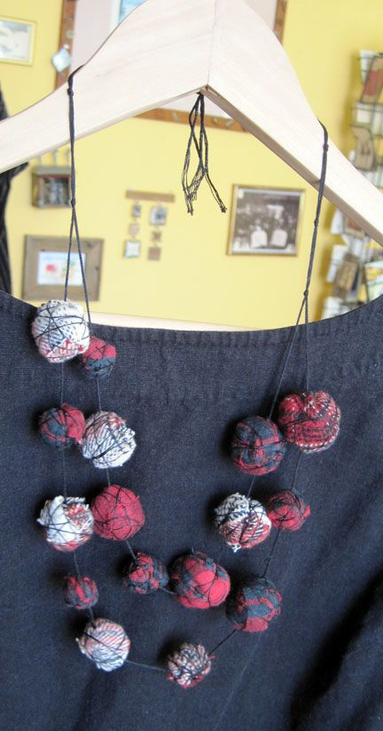 Catherine McEver - Red Flannel Beads (mmm, a cute way to make matching jewelry from the yarn scraps? Awesome)