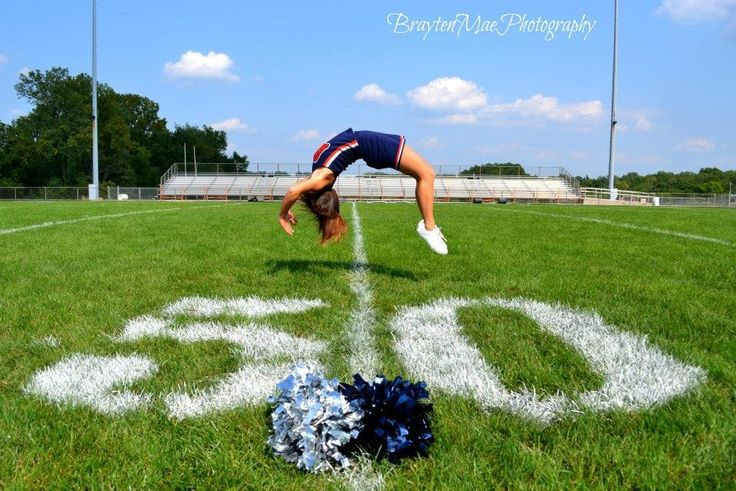 Cheerleading senior pictures- with a backtuck instead
