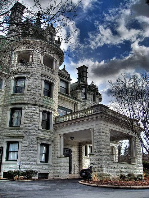 The Webb-Horton Mansion, now Morrison Hall for Orange Community College, Middletown, NY, built in 1905 of white marble.