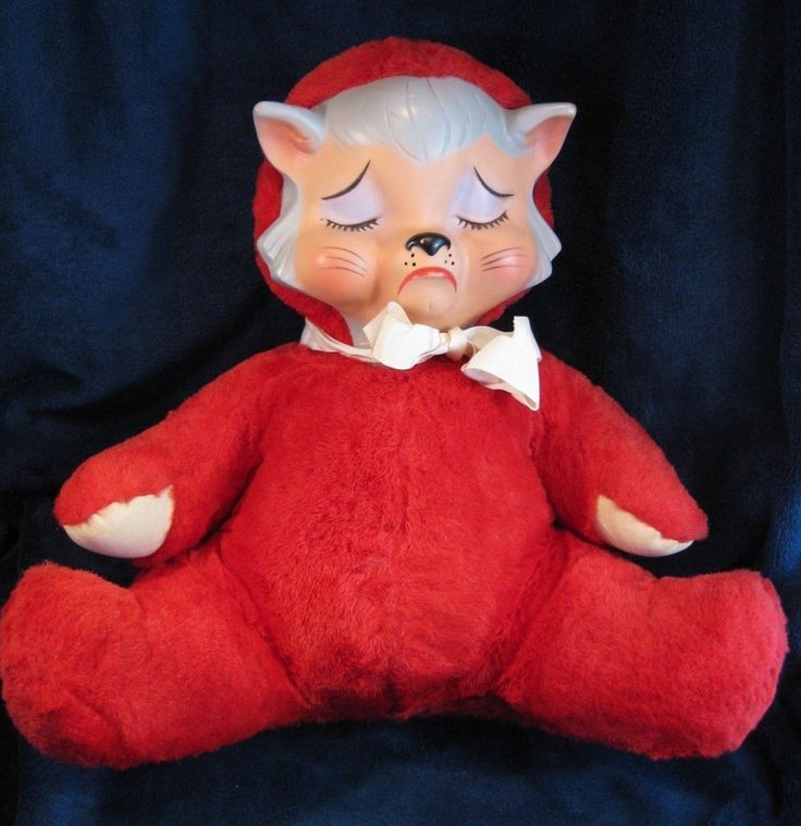 Vintage Knickerbocker Pouting Animal Rubber Face Cat Toy