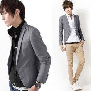 jual baju jas blazer korea pria murah online terpercaya model slimfit casual terbaru