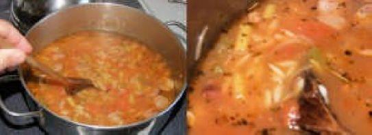 garlic sausage soup