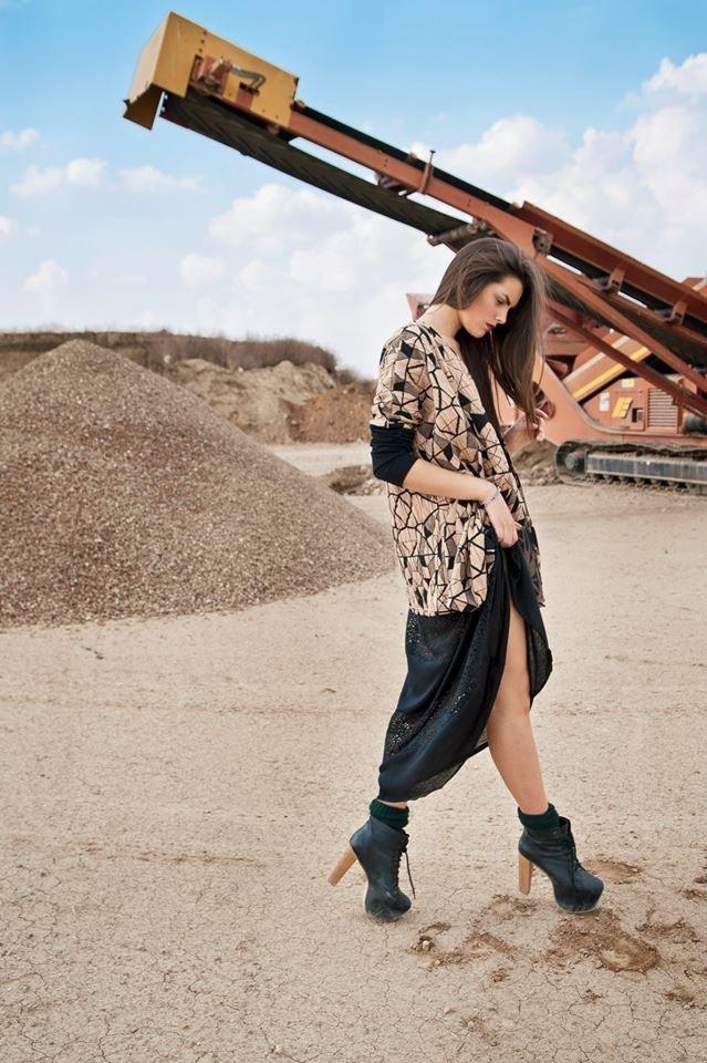 """Aquila"" cardi & ""Norma"" dress with crochet details by Nidodileda clothing"