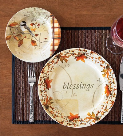 Autumn Inspirations Dinner and Dessert Plates & 33 best Thanksgiving dishes images on Pinterest | Thanksgiving ...