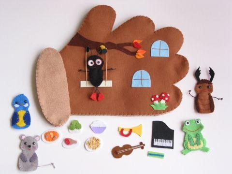 Kesztyűmese interaktív ujjbábkészlet- azonnal vihető!, Játék, Baba-mama-gyerek, Társasjáték, Készségfejlesztő játék, Meska