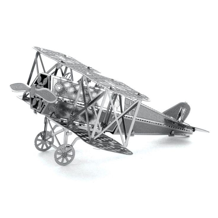 Fascinations Metal Earth Fokker D-VII Airplane 3D Metal Model Kit