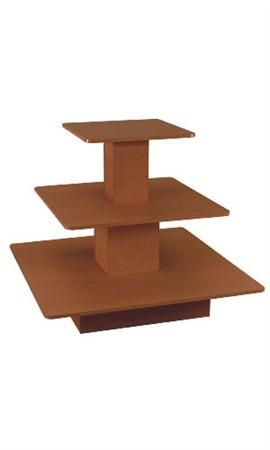 ECONOMY THREE TIER TABLE SQUARE CHERRY  - 60411