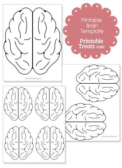 Sassy image inside printable brain template