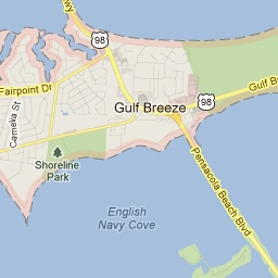 Map Gulf Breeze Florida.Gulf Breeze Florida Travels And Special Spaces Gulf Breeze