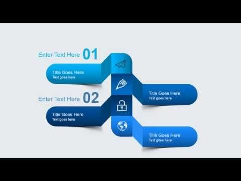 Animated Blue Gradient PowerPoint Template #PowerPoint #templates