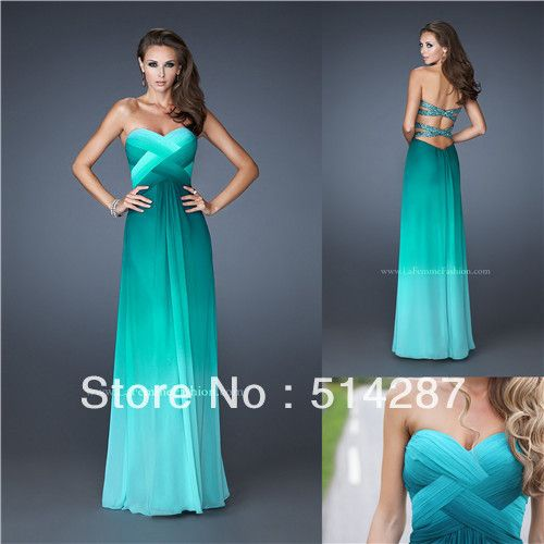 Aliexpress.com : Buy Sweetheart Pleat Floor Length Green Backless Prom Dresses 2013 New Arrival Evening Dress from Reliable evening dress be...