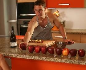 Vintage Rund um den Apfel dreht sich alles am Tag der K che aus Massivholz http