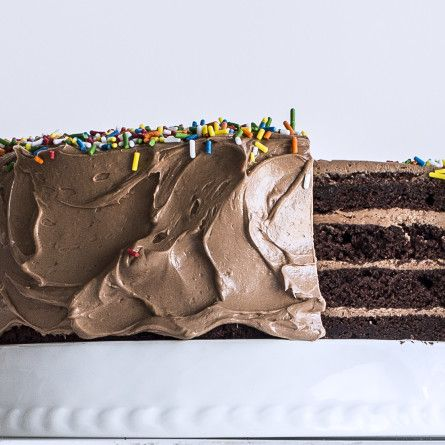 Four-Layer Chocolate Birthday Cake with Milk Chocolate Ganache and Nutella Buttercream Recipe