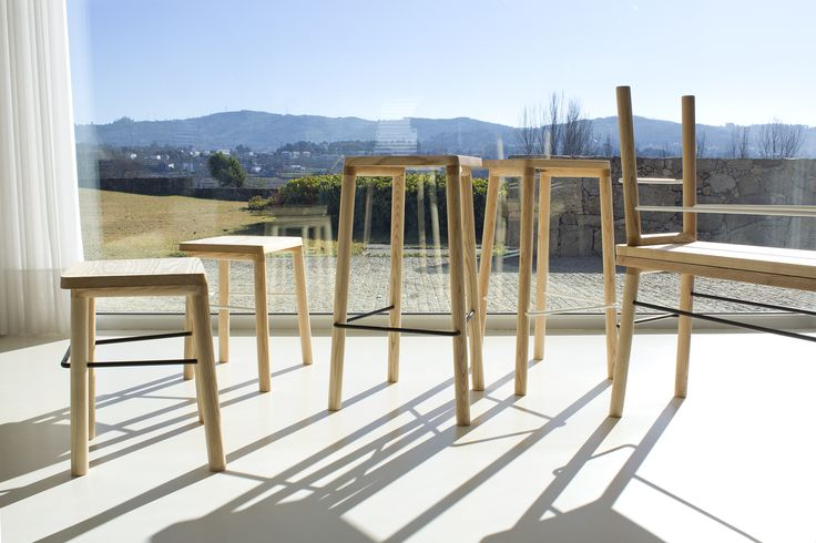 Taberna Collection A Wooden Stools Collection With 3