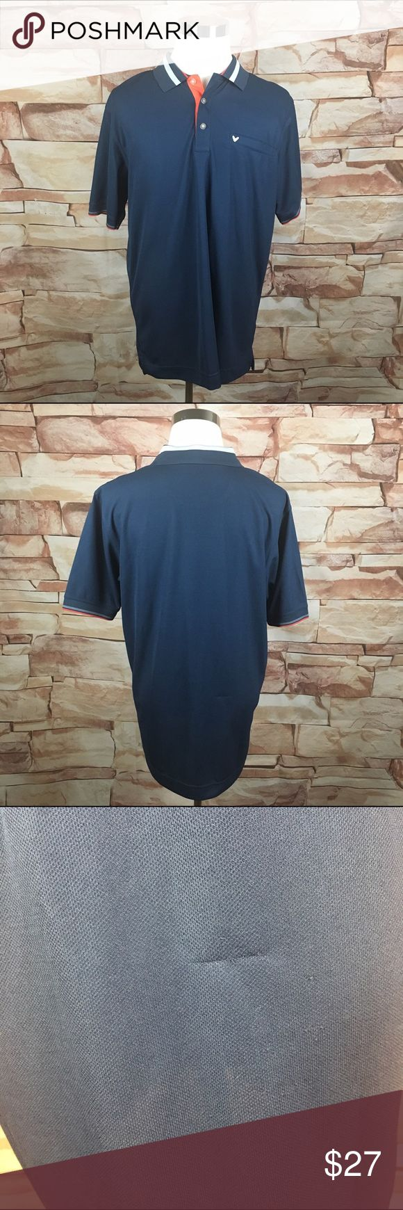 """Men's Callaway Blue Golf Polo Shirt XL Pre-owned. Good Condition. Small snag on the back. Measurements (laying flat): Pit to Pit (Across Chest): 23.5"""" Length (Top of Collar to Hem): 32"""" Sleeves (Top of Shoulder to Cuff): 11"""" *Smoke Free Home Callaway Shirts Polos"""