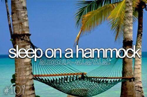 Sleep on a hammock . 🏝