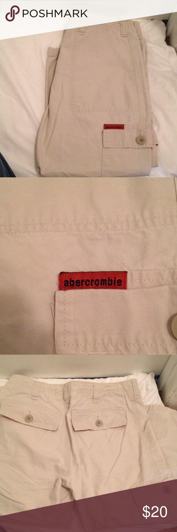 Girls Abercrombie size 16 khaki capris. Great shape. Girls Abercrombie size 16 capris. Only worn once. Abercrombie & Fitch Pants Capris