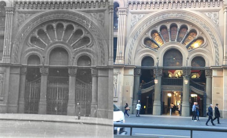 The York Street entrance to the Queen Victoria Building 1920 > 2017. [Sydney City Council > Phil Harvey. By Phil Harvey]