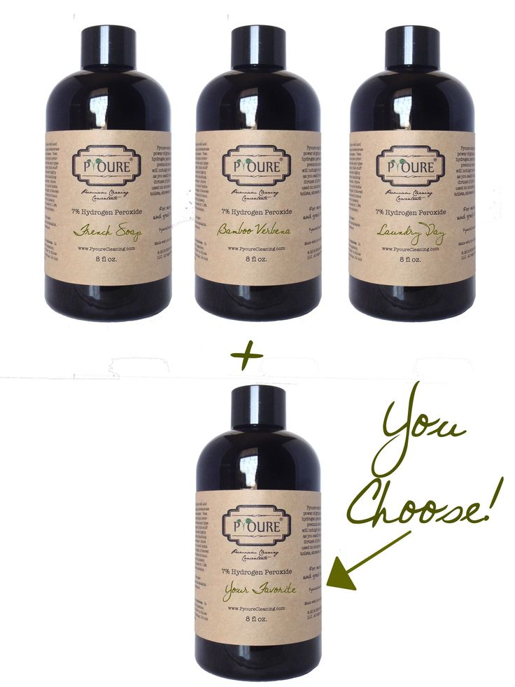 Fresh Collection - 7% Hydrogen Peroxide Cleaner Concentrate Combo/Sample Pack - Makes 1.25 Gallons (160 fl Ounces)  #ilovepyoure #springcleaning #aromatherapy #declutter #greencleaning #neatfreak #hydrogenperoxidecleaner #cleaningtime #organizing #nontoxiccleaning Awesome Hydrogen Peroxide Cleaners and More!