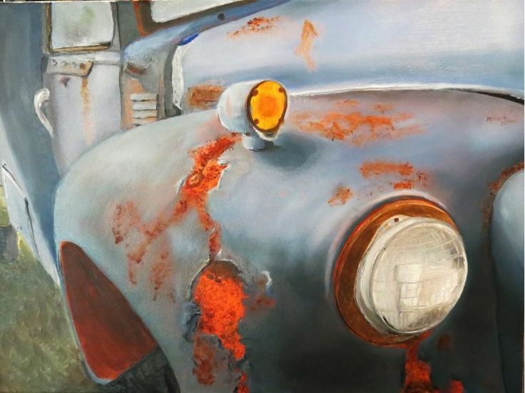 #oilpainting #oldcar #robinlyn