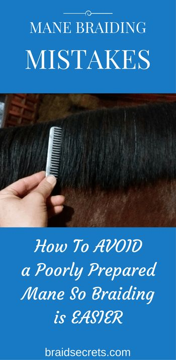 SET YOURSELF UP FOR GOOD, FAST BRAIDING. CLICK THROUGH TO LEARN MY PRO TIPS FOR PREPARING YOUR HORSE'S MANE BASED ON THE MANE TYPE.
