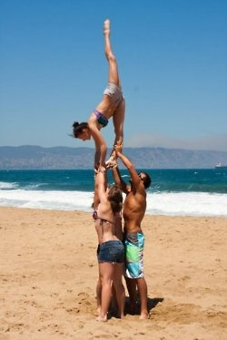 Anything better than gettin to practice your most difficult & favorite STUNTS on the BEACH?! :D
