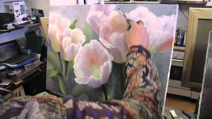 Цветы научиться писать , рисовать маслом, уроки графики и живописи в Мос...
