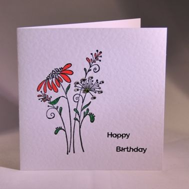 13 best handmade flower cards images on pinterest flower cards a pretty handmade floral birthday card handmade by helen thecheapjerseys Images
