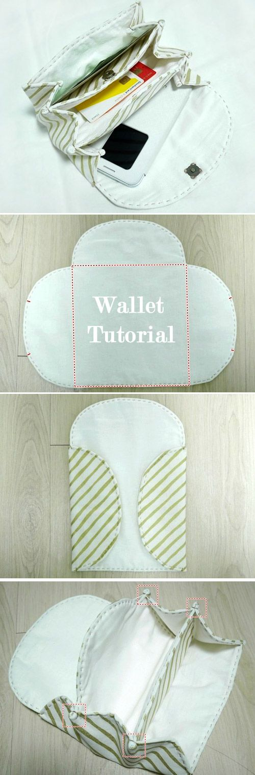 Accordion Women's Fabric Wallet / Clutch / Purse. DIY Step by Step Tutorial…