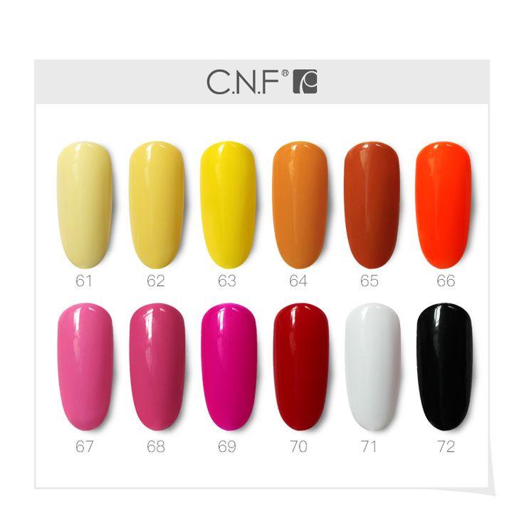 CNF Gelpolish Hot Colors Princess Yellow Pure White Black Red Series Uv Led Gel Nail Polish 6ml 30 days lasting Nail Gel