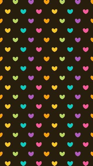 #fondo #corazones #muchoscolores