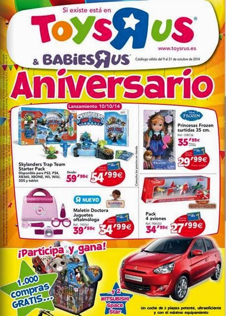 Catalogo de #Juguetes #Toysrus por el  Aniversario 2014.