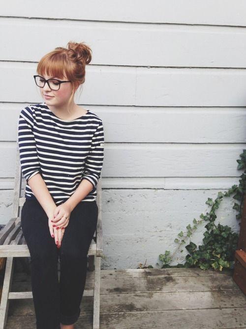 Stripes & cigarette trousers