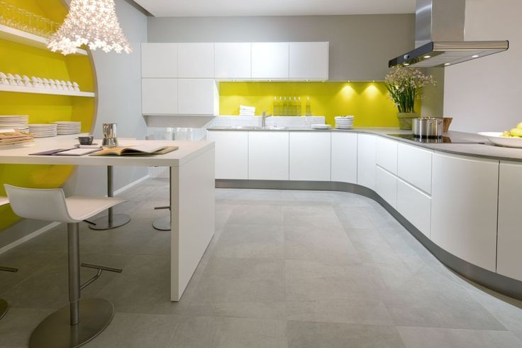 Curved Kitchen #Modern #ModernKitchen #KitchenDesign #KitchenRemodel