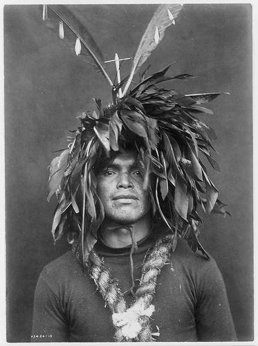 Native American Edward Curtis Cowichan Warrior Headdress