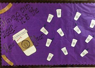 Refresh your decor in the new year with this super fun bulletin board idea created by Lisa Mooney, kindergarten teacher and artist behind Lisa's Little Graphics! we love the coffee theme and the...