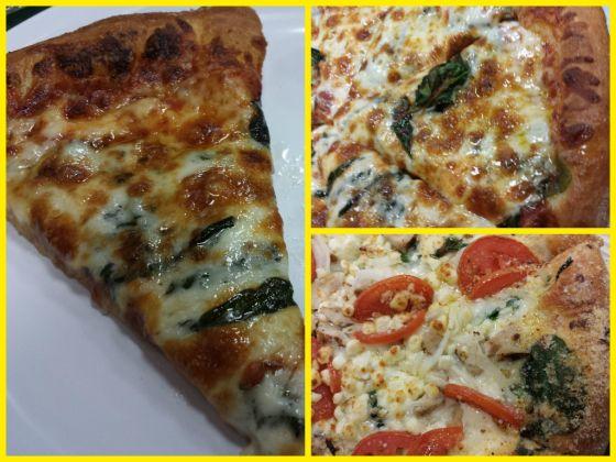 cheese pizza, chicken, Florentine, garlic, Grilled Chicken Florentine Pizza, Marco's Pizza, pizza, Roma, spinach, tomatoes