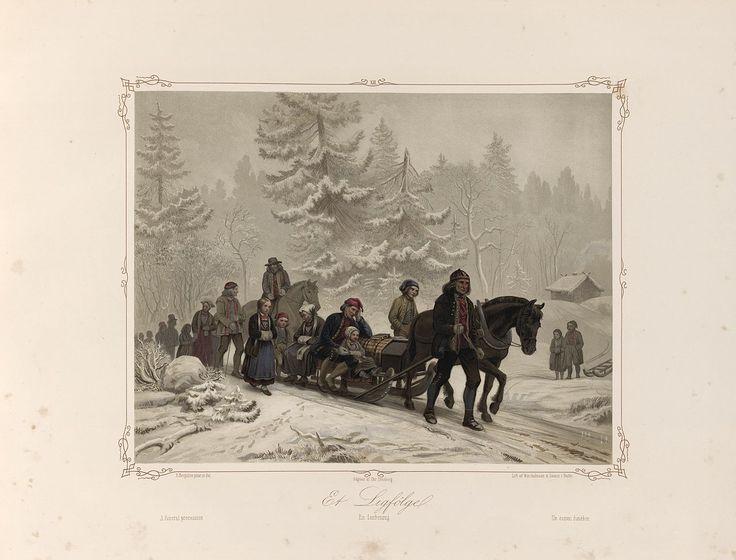 Norske Folkelivsbilleder 12 - Et Ligfölge (Knud Bergslien). jpg (1280×974)