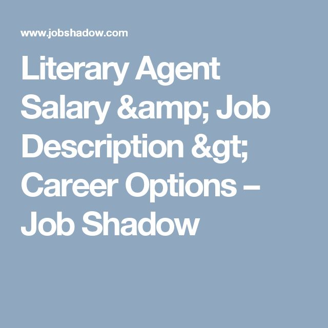 Literary Agent Salary & Job Description > Career Options – Job Shadow